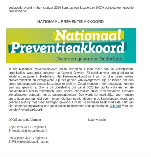 JoGG Nieuwsbrief December 2018